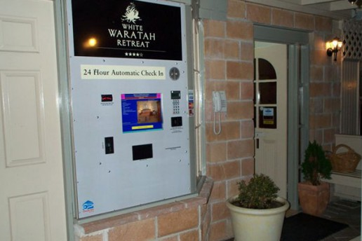 Motel Check In Kiosk with integrated Payment Systems