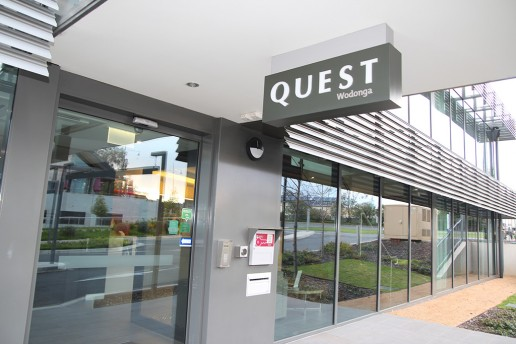 24 Hour Check In Keysafe with key dispenser at Quest Wodonga